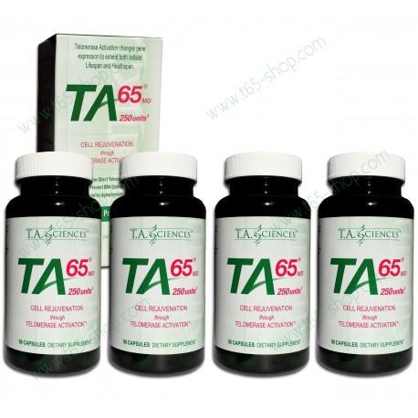 Pack 4 x TA-65 90 capsules (1 an de cure)